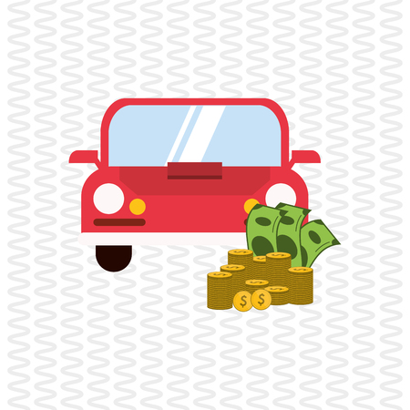 car bills: Profit concept with icon design, vector illustration 10 eps graphic.