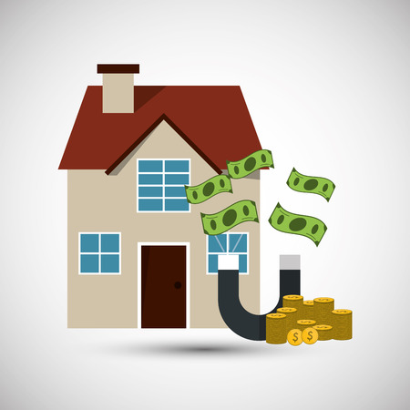 house exchange: Profit concept with icon design, vector illustration 10 eps graphic.