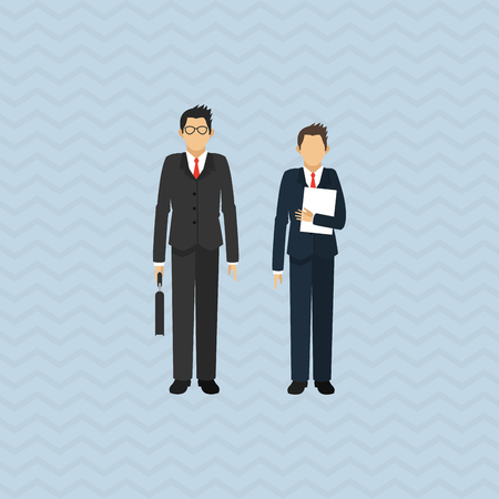 eps 10: businesspeople concept with icon design, vector illustration 10 eps graphic. Illustration