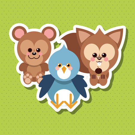 eps 10: Animal concept with cartoon design, vector illustration 10 eps graphic.