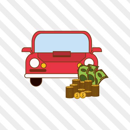 car bills: Profit concept with icon design, vector illustration 10 eps graphic.