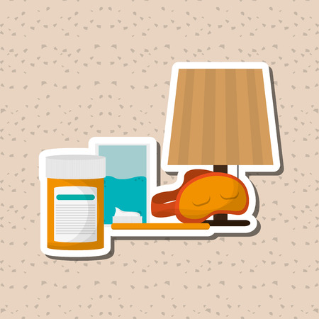 sleeping pills: Resting concept with icon design, vector illustration 10 eps graphic. Illustration