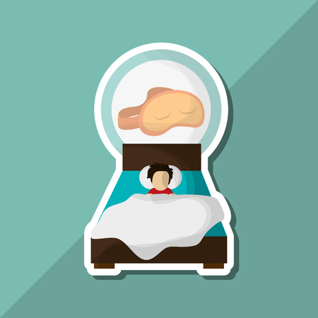 eps 10: Resting concept with icon design, vector illustration 10 eps graphic. Illustration