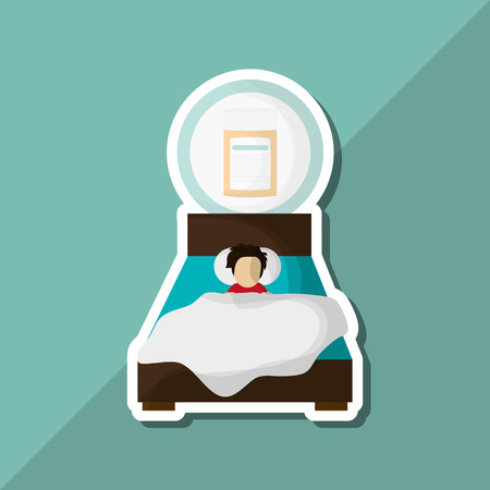 resting: Resting concept with icon design, vector illustration 10 eps graphic. Illustration