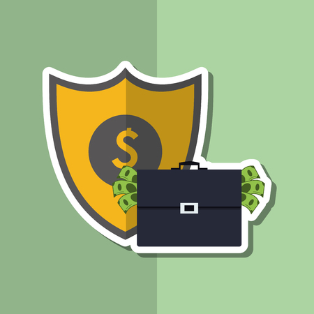 value system: Insurance concept with icon design, vector illustration 10 eps graphic.