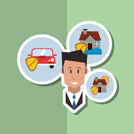eps 10: Insurance concept with icon design, vector illustration 10 eps graphic.