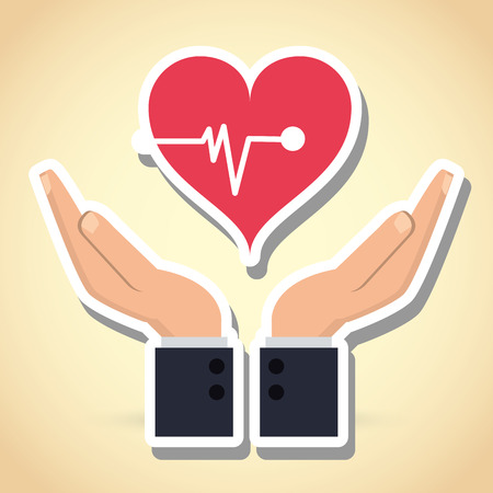 medical heart: Insurance concept with icon design, vector illustration 10 eps graphic.