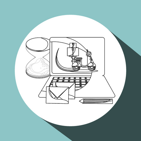 eps 10: Delivery concept with icon design, vector illustration 10 eps graphic. Illustration