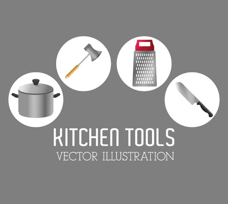 metal grater: kitchen tools concept with icon design, vector illustration 10 eps graphic.