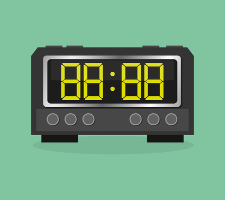 eps 10: clock concept with icon design, vector illustration 10 eps graphic.