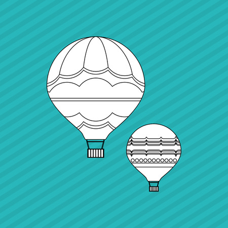 ballooning: hot air balloon concept with icon design, vector illustration 10 eps graphic.