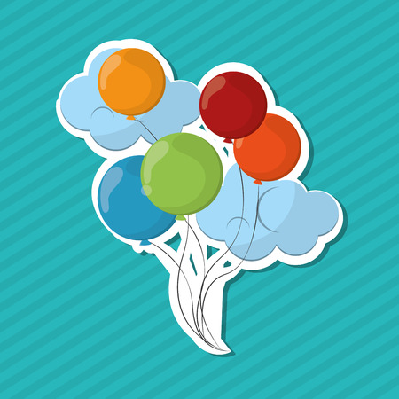 outdoor event: balloons concept with icon design, vector illustration 10 eps graphic. Illustration