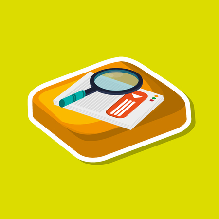 lupe: lupe concept with icon design, vector illustration 10 eps graphic.