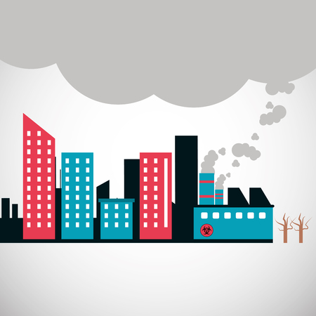 hazardous to the environment: Pollution concept with icon design, vector illustration 10 eps graphic.