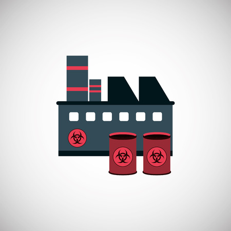 hazardous waste: Pollution concept with icon design, vector illustration 10 eps graphic.