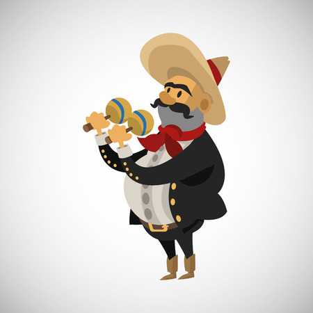 mexican concept with icon design, vector illustration 10 eps graphic.