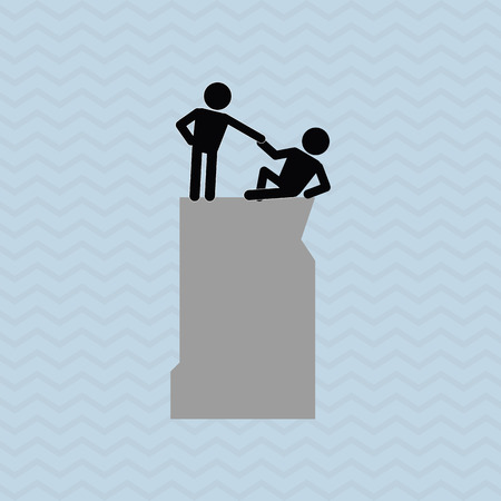 collaborative: help concept with support icon design, vector illustration 10 eps graphic. Illustration