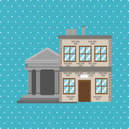 luxury house exterior: Building concept with icon design, vector illustration 10 eps graphic.