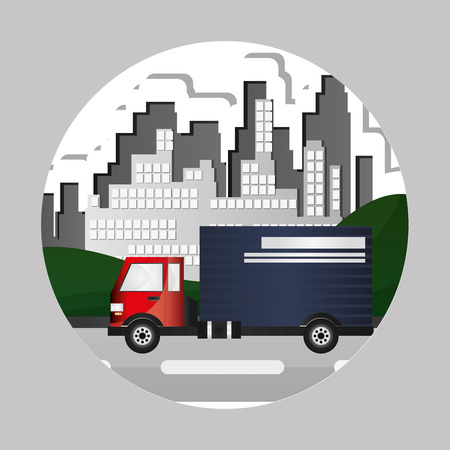 transporter: Truck concept with icon design, vector illustration 10 eps graphic.