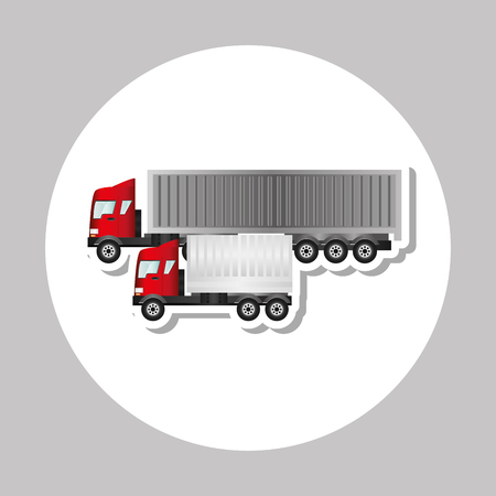 commerce and industry: Truck concept with icon design, vector illustration 10 eps graphic.