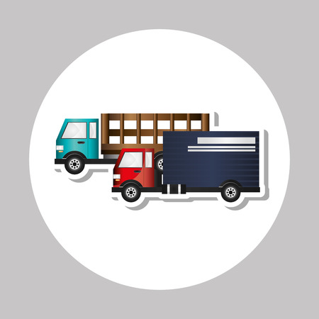automotive industry: Truck concept with icon design, vector illustration 10 eps graphic.