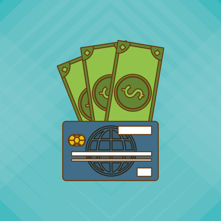 paying bills online: Payment concept with icon design, vector illustration 10 eps graphic.
