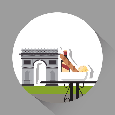 french culture: France concept with icon design, vector illustration 10 eps graphic.
