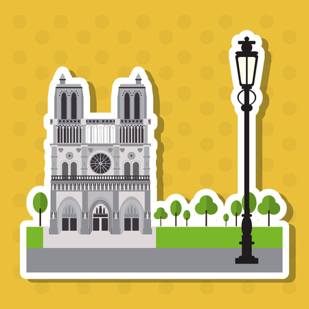 dame: France concept with icon design, vector illustration 10 eps graphic.