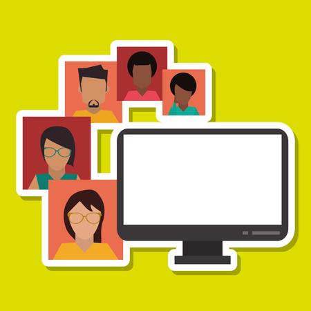 redes de mercadeo: concepto de medios de comunicación social con el diseño de iconos, ilustración vectorial eps 10 gráfico.