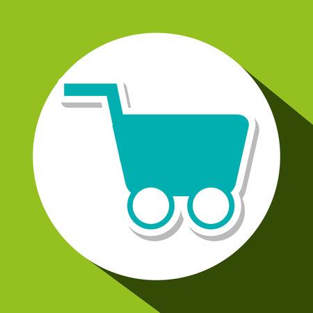 commerce communication: Shopping cart concept with icon design, vector illustration 10 eps graphic.