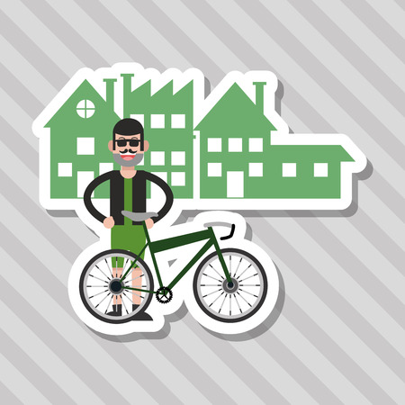 Bike concept with icon design, vector illustration 10 eps graphic.