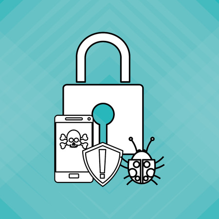 Security system concept with icon design, vector illustration 10 eps graphic. Illustration