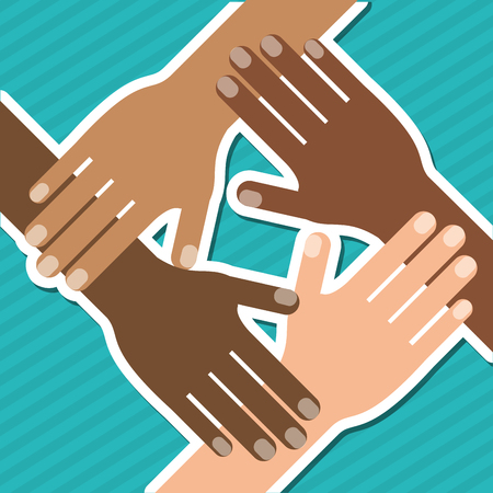 racial diversity: diversity  concept with icon design, vector illustration 10 eps graphic. Illustration