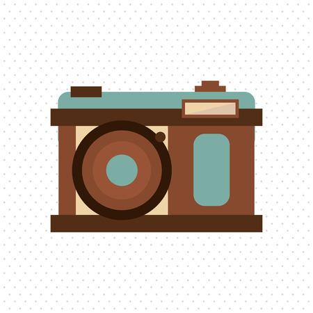 digicam: Retro concept with icon design, vector illustration 10 eps graphic.