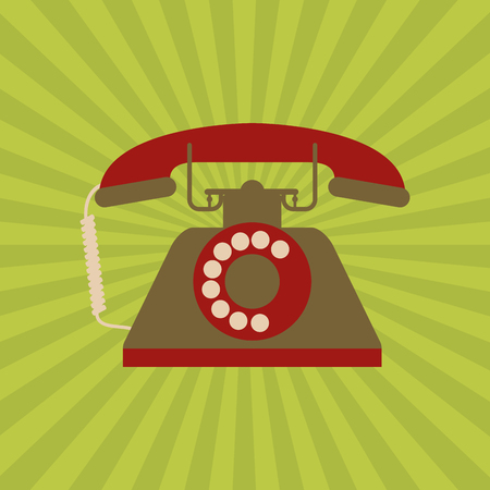 vintage phone: vintage phone concept with icon design, vector illustration 10 eps graphic.