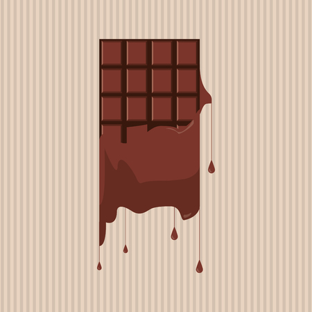 temptation: Chocolate concept with icon design, vector illustration 10 eps graphic.