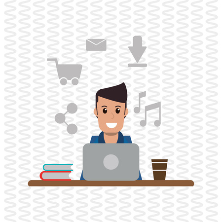 laborer: Work concept with icon design, vector illustration 10 eps graphic.