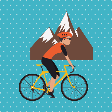Bike lifestyle concept with icon design, vector illustration 10 eps graphic.