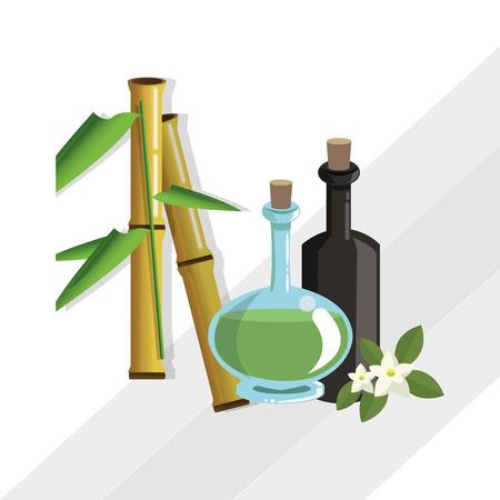 retreat: spa center concept with icon design, vector illustration 10 eps graphic. Illustration