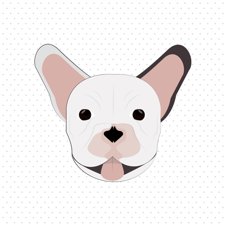 dog ears: French bulldog concept with icon design, vector illustration 10 eps graphic. Illustration