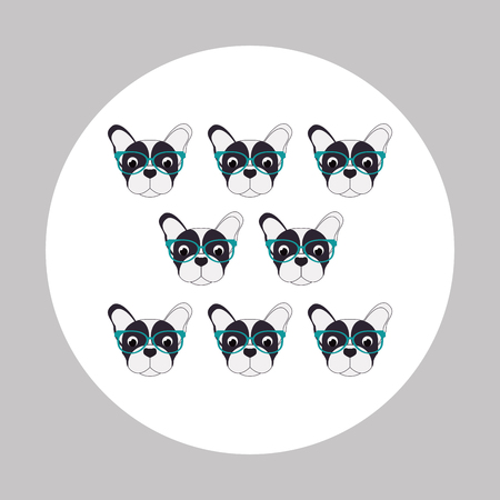 doggies: French bulldog concept with icon design, vector illustration 10 eps graphic. Illustration