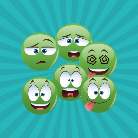 cartoon face concept with icon design, vector illustration 10 eps graphic.