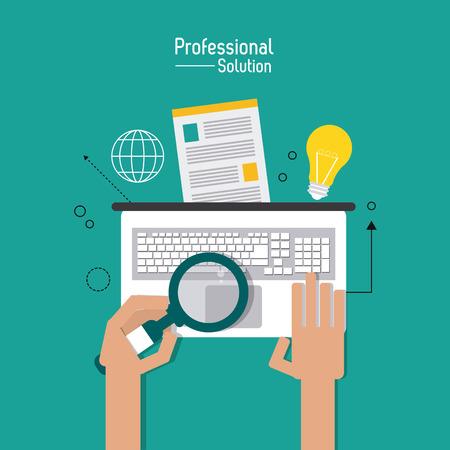 concepto de servicio al cliente con el diseño de la solución profesional icono, ilustración vectorial eps 10 gráfico.