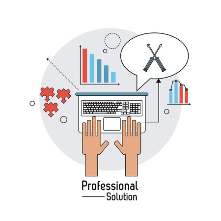 technical assistant: customer service concept with professional solution  icon design, vector illustration 10 eps graphic. Illustration