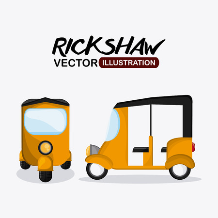 rickshaw concept with icon design