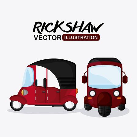 highway 3: rickshaw concept with icon design