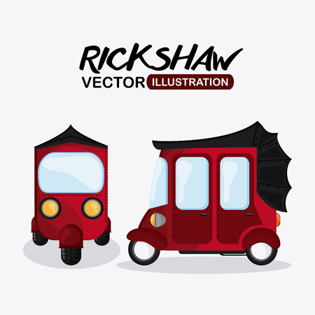 rikscha: Rikscha-Konzept mit Icon-Design