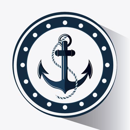 anchor concept with icon design Иллюстрация