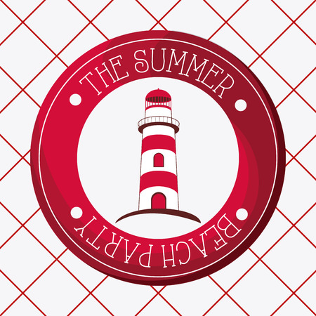 hope symbol of light: Lighthouse concept with icon design Illustration
