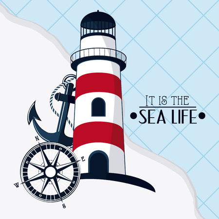 Lighthouse concept with icon design, vector illustration 10 eps graphic.